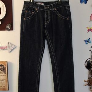 Red Engine Straight leg Jeans Size: 27